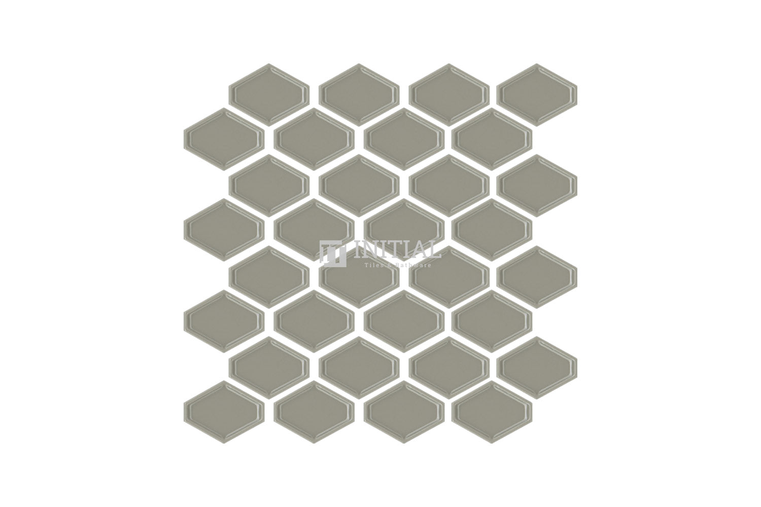 Bathroom Feature Mosaic Trend Honeycomb Gloss Latte