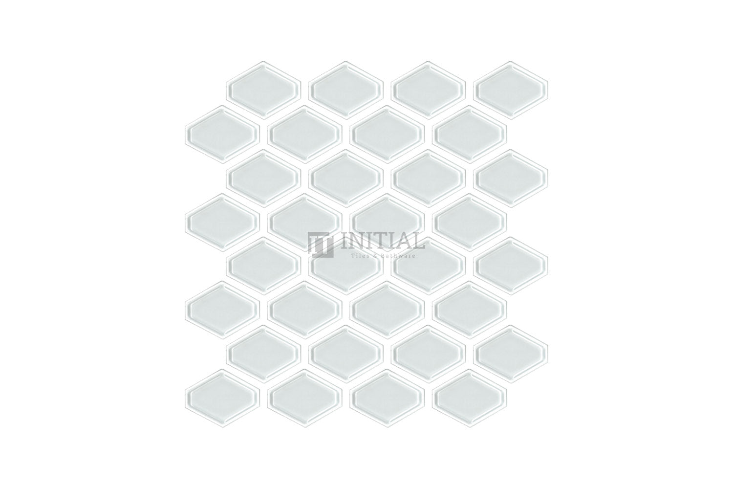 Bathroom Feature Mosaic Trend Honeycomb Gloss White