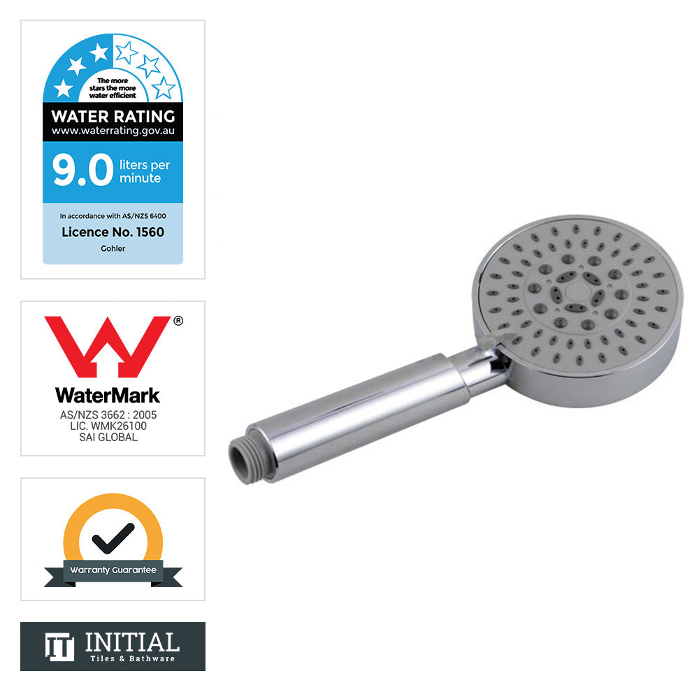 Round 5 Functions Handheld shower head Chrome