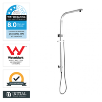 Block 8'' Square Top Water Inlet Shower Combination Chrome
