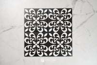 Encaustic Pattern Tile Pierre Arabic Black & White Matt 200X200