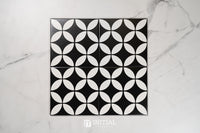 Encaustic Pattern Tile Pierre Great Dane Black Matt 200X200