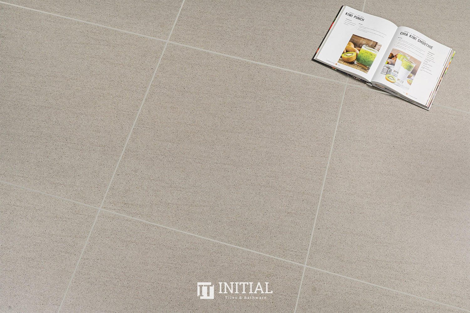 Concrete Look Tile Basalto Light Grey Matt 600X600
