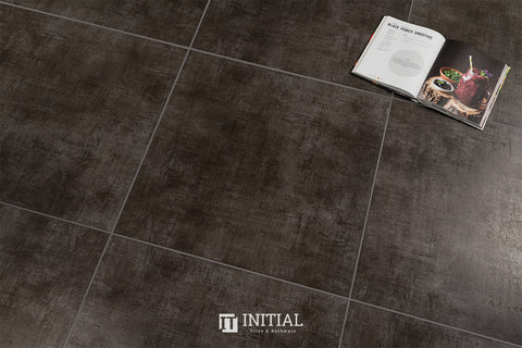 Concrete Look Tile Modern Charcoal Matt 600X600