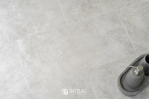 Concrete Look Tile Urban Stone Silver Matt 300X600
