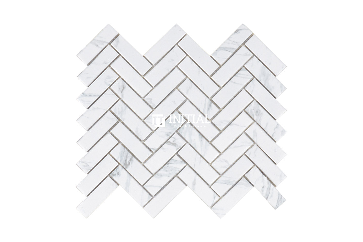 Feature Mosaic Persian Carrara Look Mosaic Small Herringbone Matt 243X317
