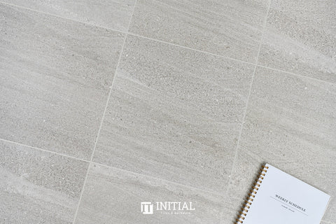 Concrete Look Tile Teakstone Dark Grey Matt 600X600