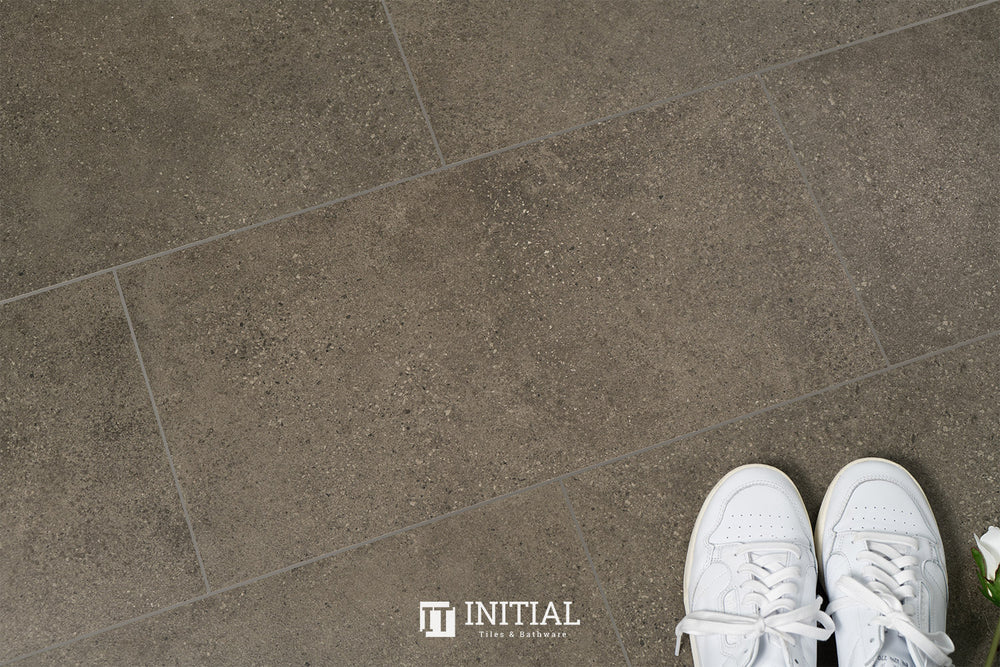 Concrete Look Tile Townhall Dark Grey Lappato 300X600