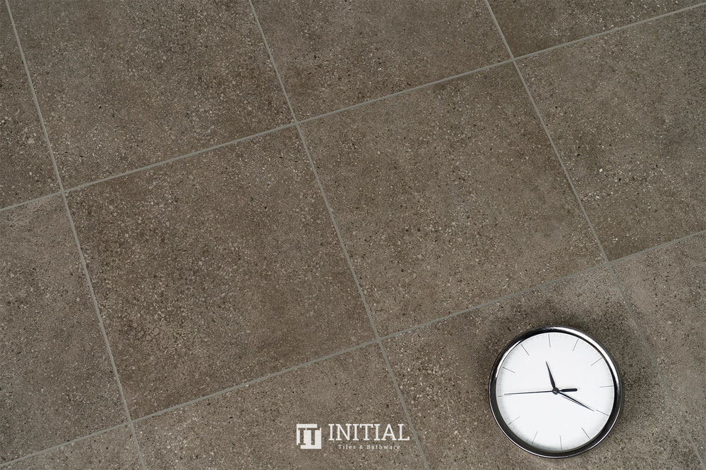 Concrete Look Tile Townhall Dark Grey Matt 300X300