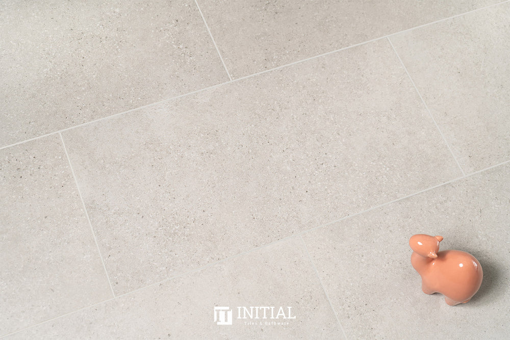 Concrete Look Tile Townhall Light Grey Lappato 300X600
