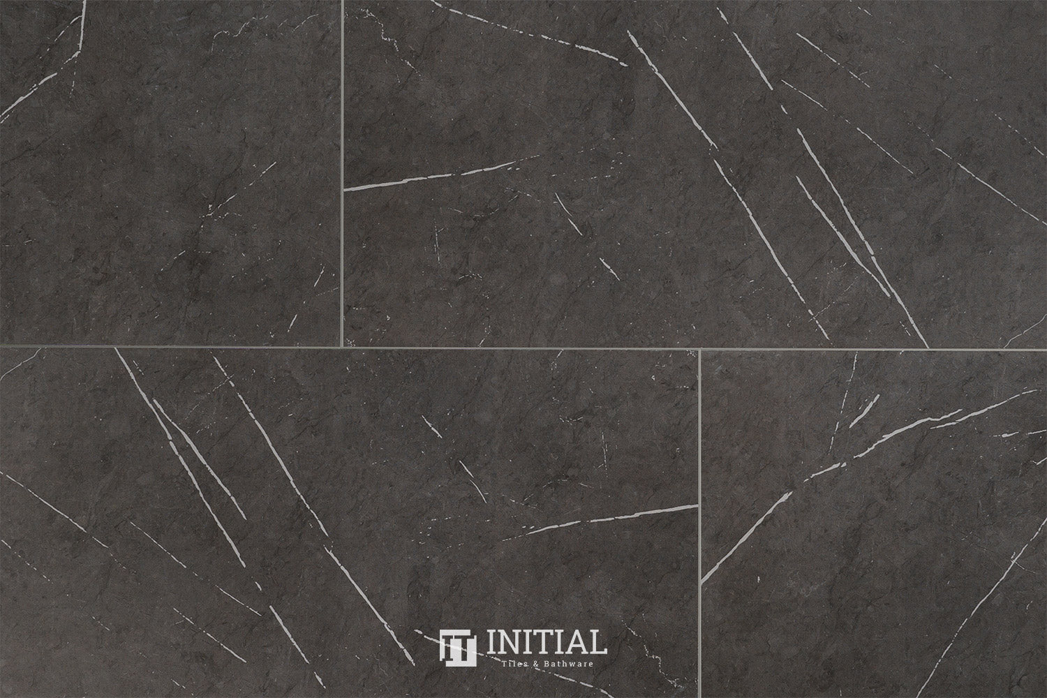 Marble Look Tile Pietra Charcoal Matt 300X600