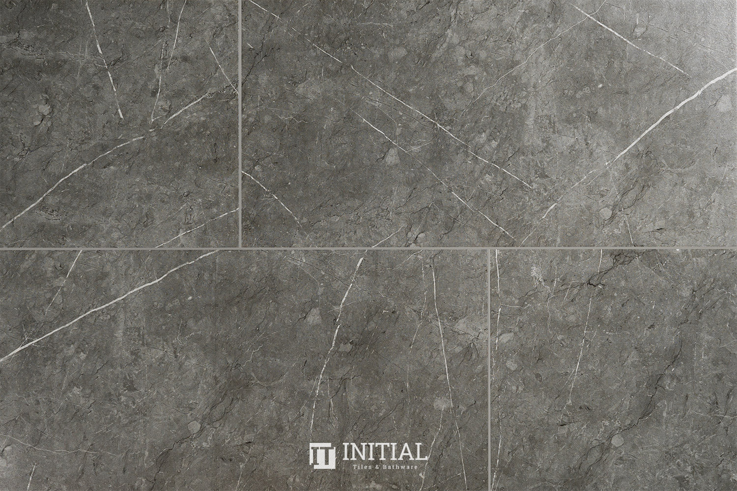 Marble Look Tile Paradise Dark Grey Matt 300X600