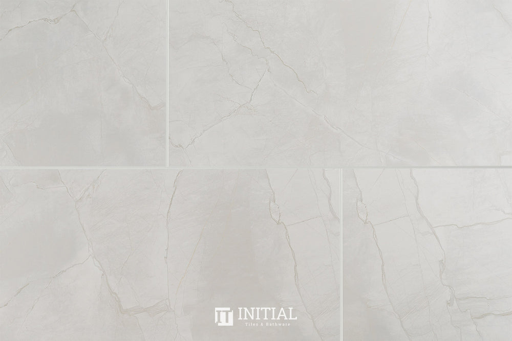 Marble Look Tile Snowy Grey Polished 300X600