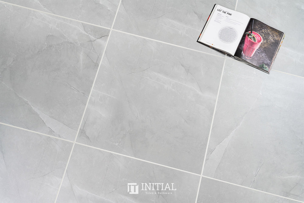 Marble Look Tile Vaucluse Grey Matt 600X600