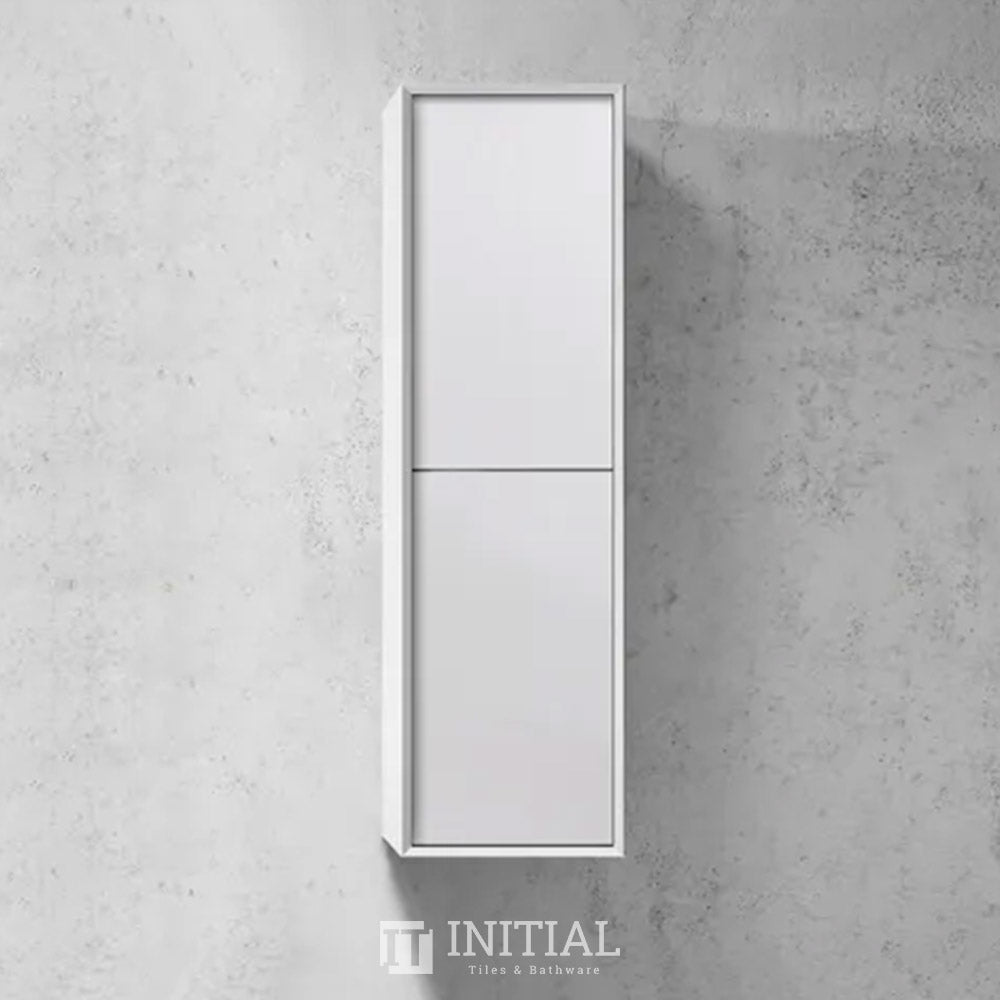 Otti Massa Wall Hung Tall Boy With 2 Doors Soft closing Matt White 350W X 1200H X 300D