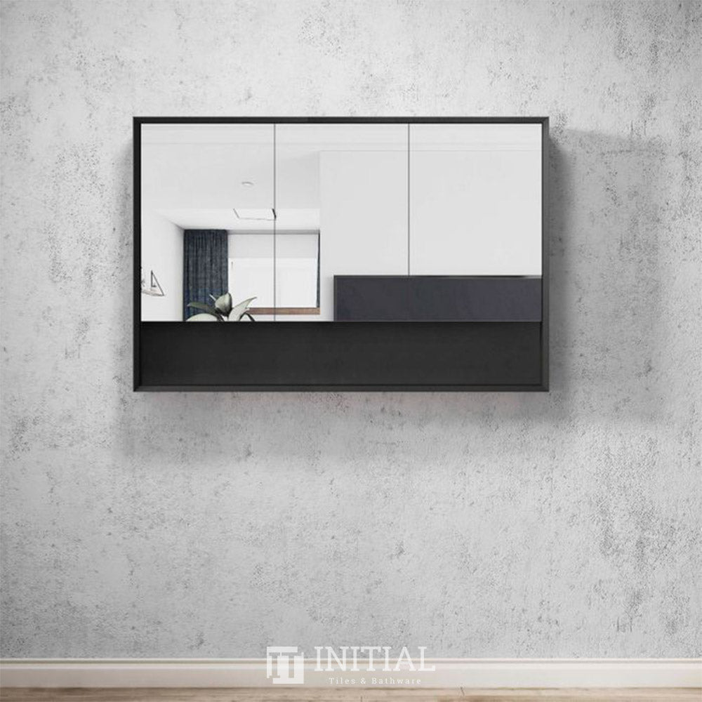 Otti Milano Wall Mounted Shaving Cabinet with 3 Doors 1200W X 800H X 150D