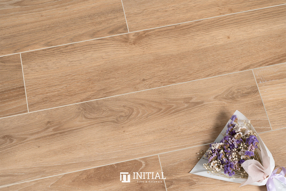 Timber Tile Euro Wood Brown Matt 200X1200