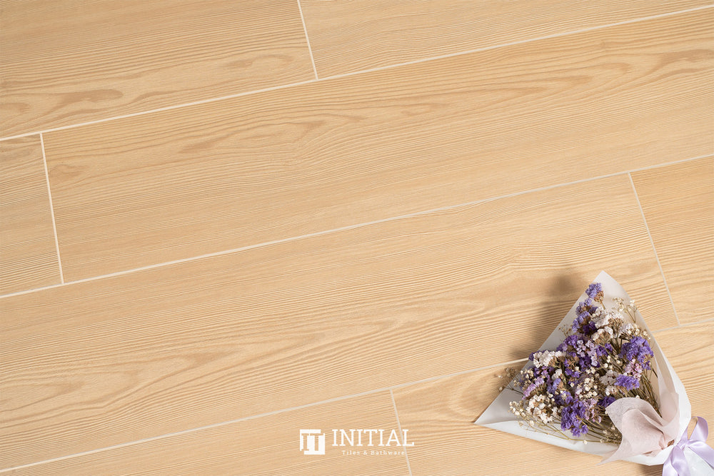Timber Tile Light Pine Beige Matt 200X1200