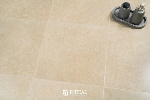 Concrete Look Tile Solid Beige Matt 450X450