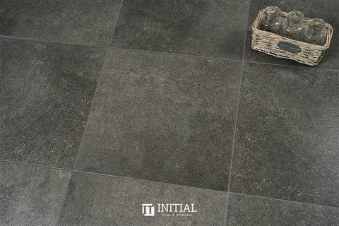 Concrete Look Tile Solid Dark Grey Lappto 450X450