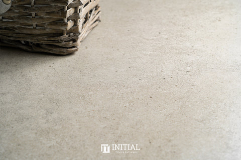 Concrete Look Tile Solid Light Grey Matt 450X450