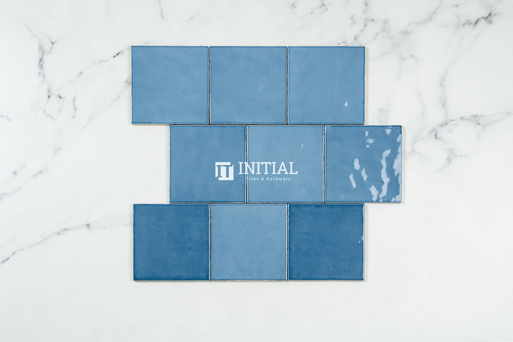 Subway Tile Retro Sky Blue Gloss 120X120