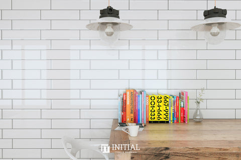Subway Tile Town Wall White Gloss 75X300