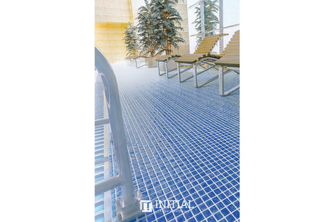 Swimming Pool Mosaic Euro Mosaic Anti-slip Blue