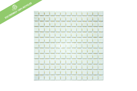 Swimming Pool Mosaic Euro Mosaic Niebla Solid Pearl White