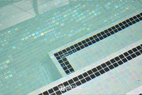 Swimming Pool Mosaic Ezzari Iris Pearl White