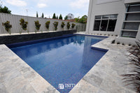 Swimming Pool Mosaic Ezzari Iris Pearl Royal Blue