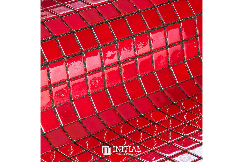 Swimming Pool Mosaic Ezzari Metallica Red