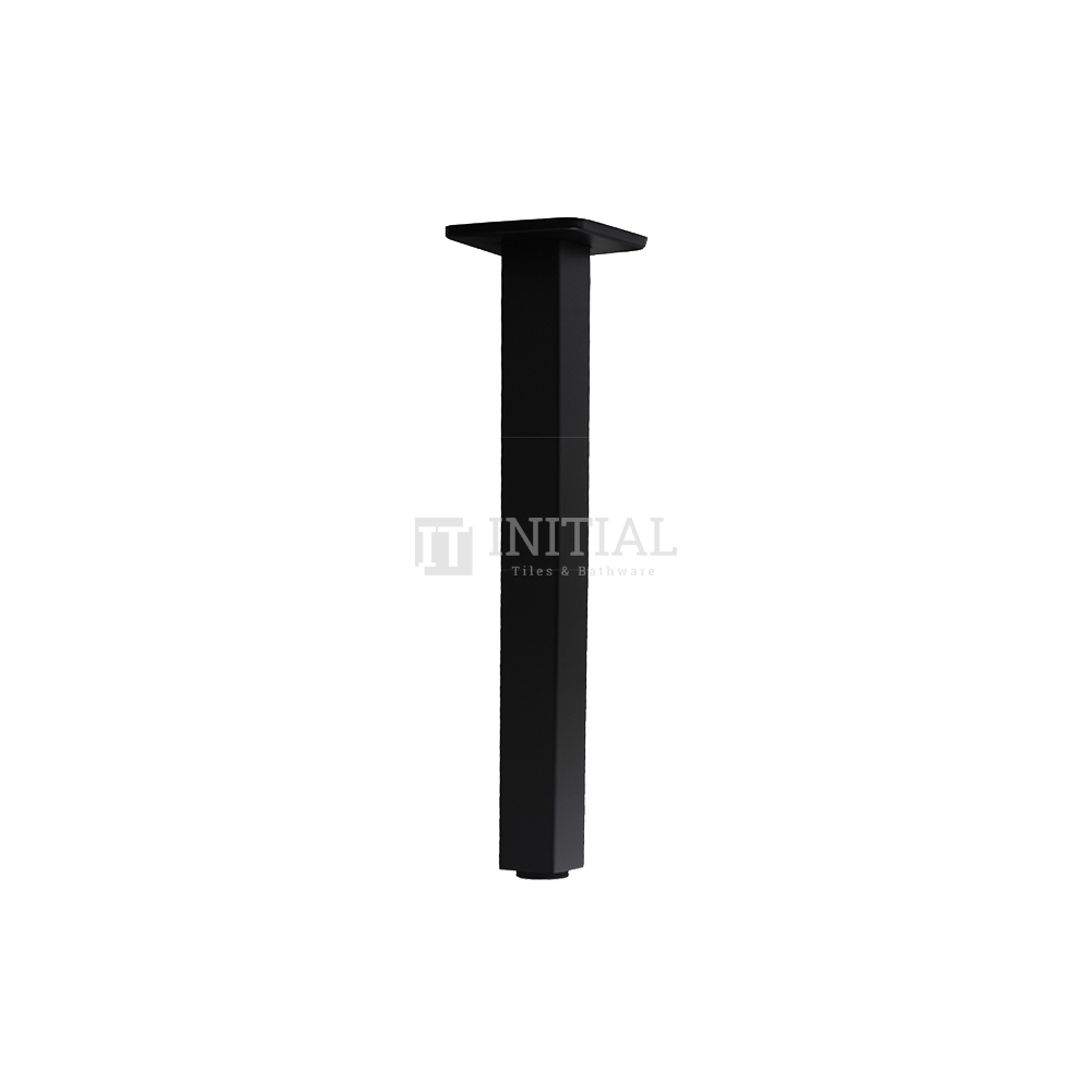 Square Ceiling Shower Arm 200mm Matt Black