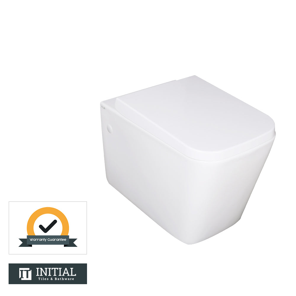 Kubic Box Rim Wall Hung Pan Ceramic White 550X345X320