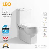 Leo Box Rim Flush Pan Back to Wall Toilet Suite Ceramic White 660X375X840