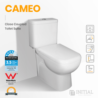 Cameo Closed Couple Toilet Suite Ceramic White 655X385X805