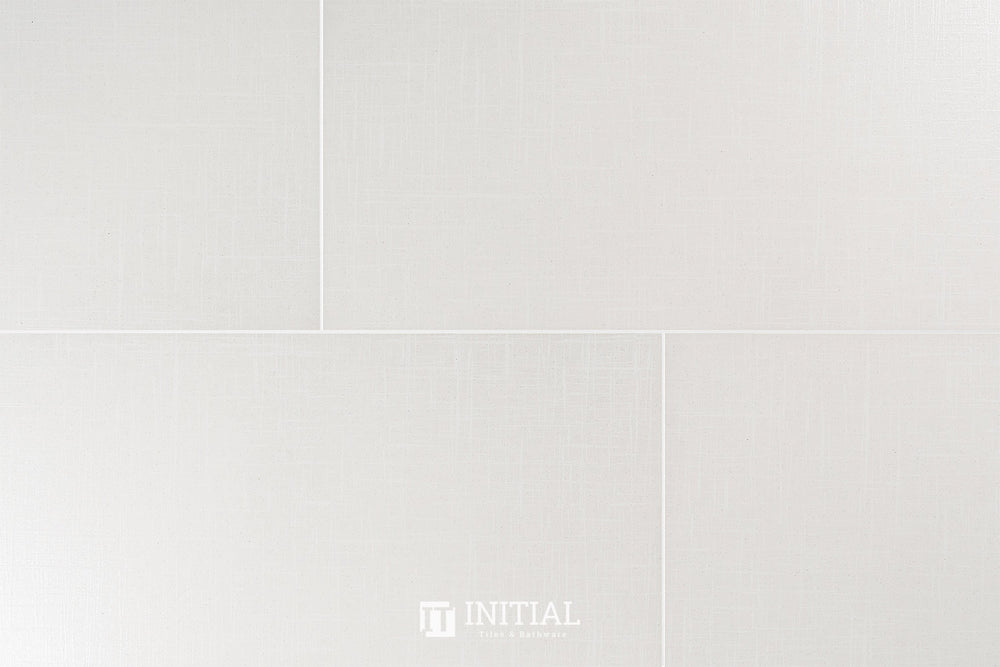 Bathroom Feature Tile Style White Lappato 300X600