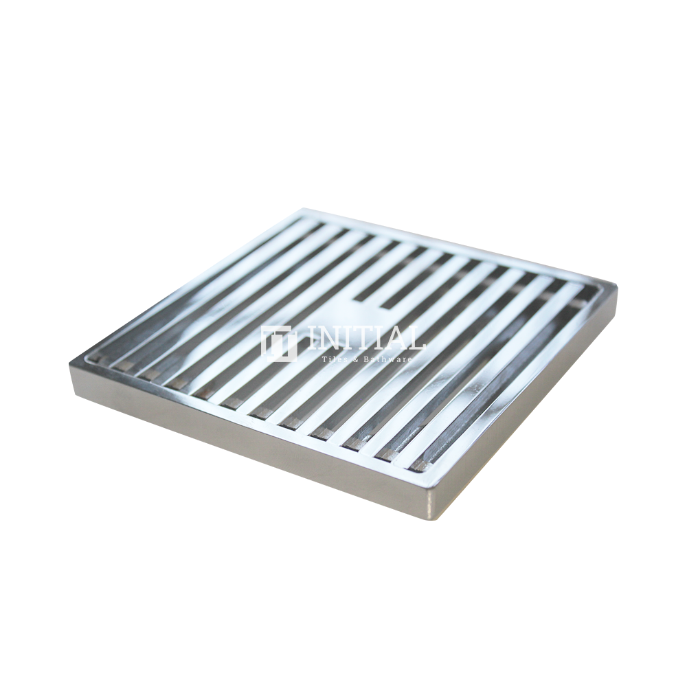 Bathroom Linear Square Floor Waste Chrome