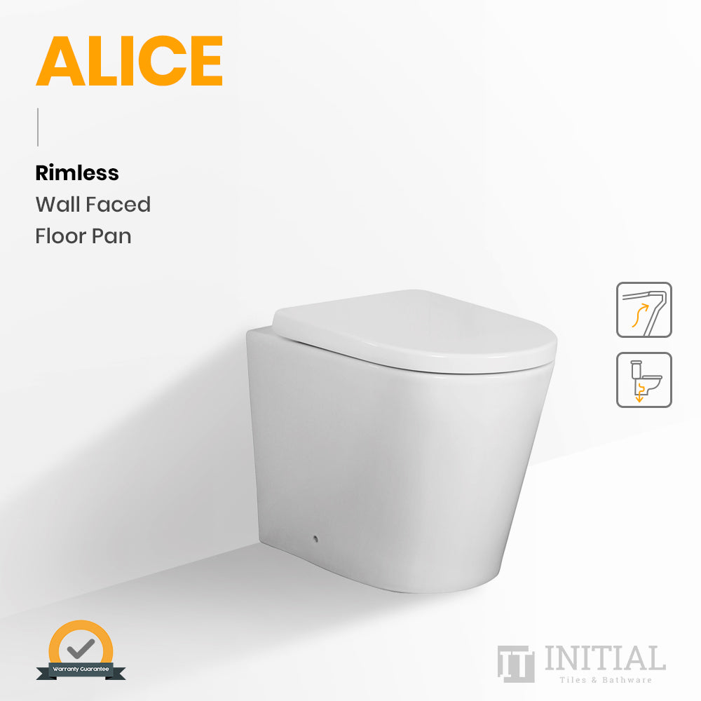 Alice Rimless Wall Faced Floor Pan Ceramic White 575X360X415