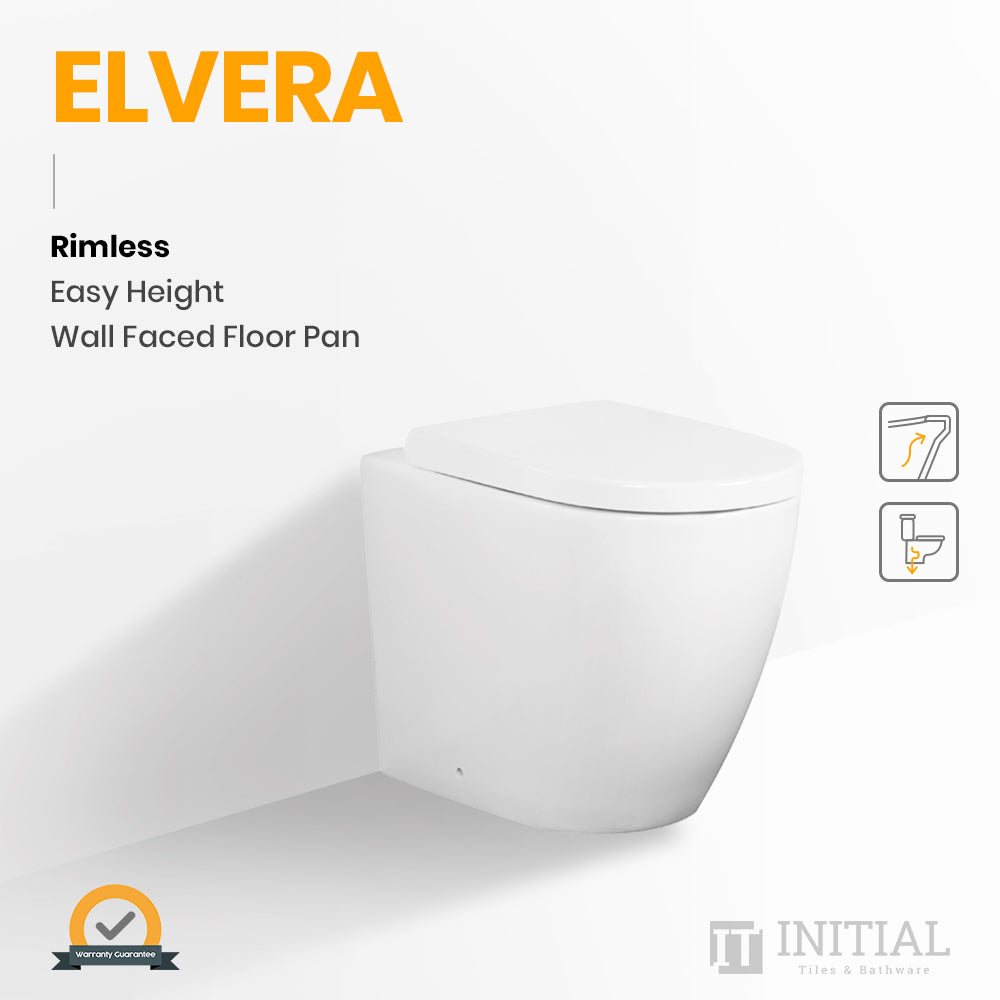Elvera Rimless Easy Height Wall Faced Floor Pan Ceramic White 585X360X455