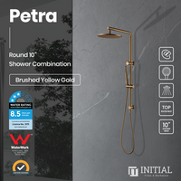 "Petra 10"" Round Shower Combination Brushed Yellow Gold"