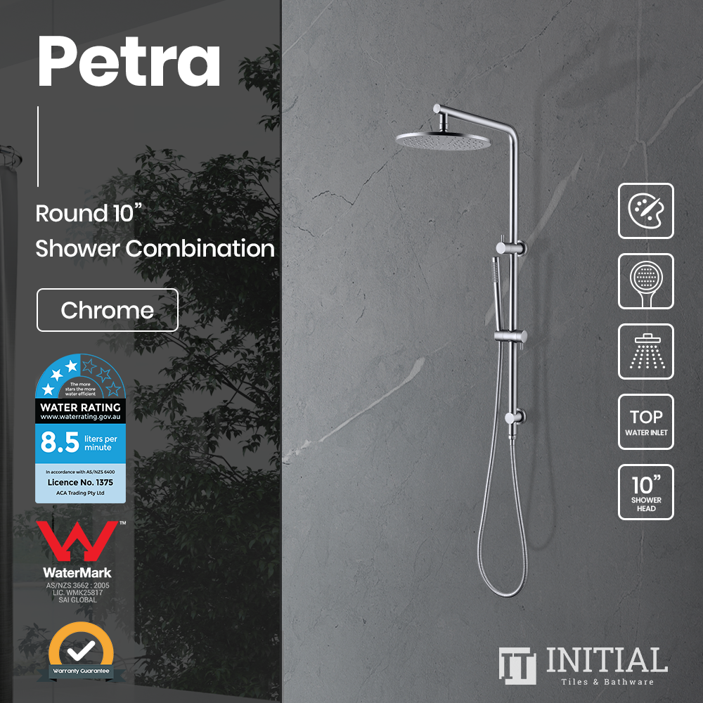 "Petra 10"" Round Shower Combination Chrome"