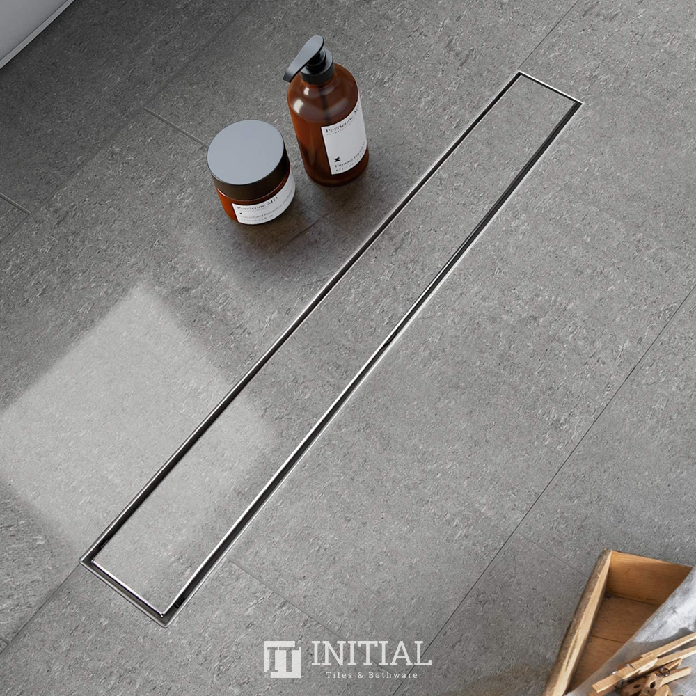 Bathroom Slimline Tile Insert Floor Waste Silver 100~1000mm