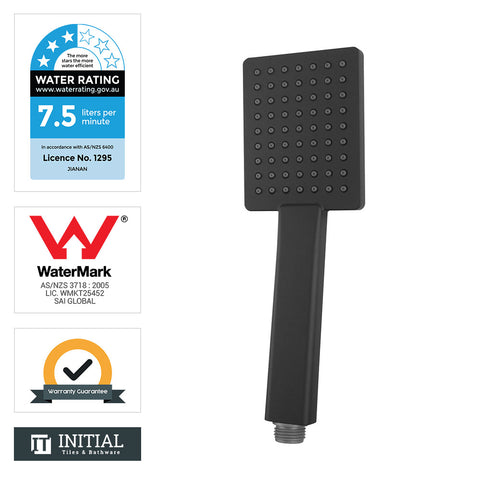 Square Handheld Shower Black