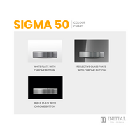 Bathroom Geberit Sigma 50 Rectangle Glass Dual Flush Push Buttons