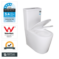 Vevo Tornado Back to Wall Toilet Suite Ceramic White 655X360X865