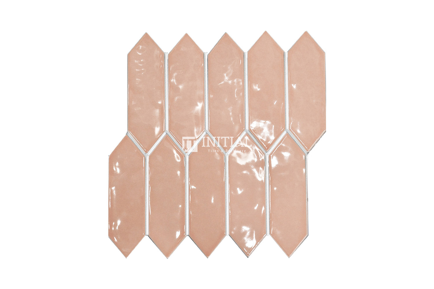 Feature Mosaic Boat Rippled Arrow Mosaic Gloss Apricot 292.5X324