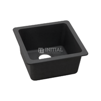 Sqaure Granite Quartz Stone Kitchen & Laundry Sink Black 422X422X203