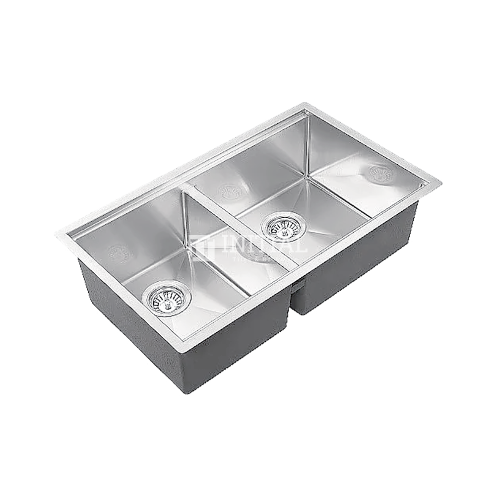 Square Hand Made Stainless Steel Kitchen Sink 800X480X220