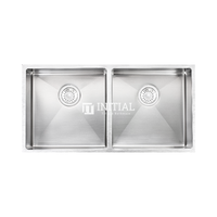 Square Stainless Steel Kitchen & Laundry Sink 865X440X200